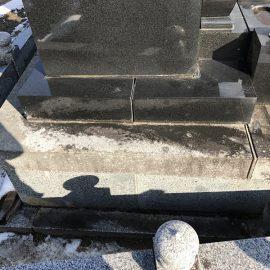 お墓のリフォームは実際に解体してみないと把握できない部分が多いです。