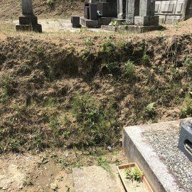地域の共同墓地は境界が曖昧な場合があるので注意が必要です。